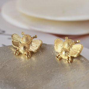 Kate Spade Childlike Golden Bee Earrings